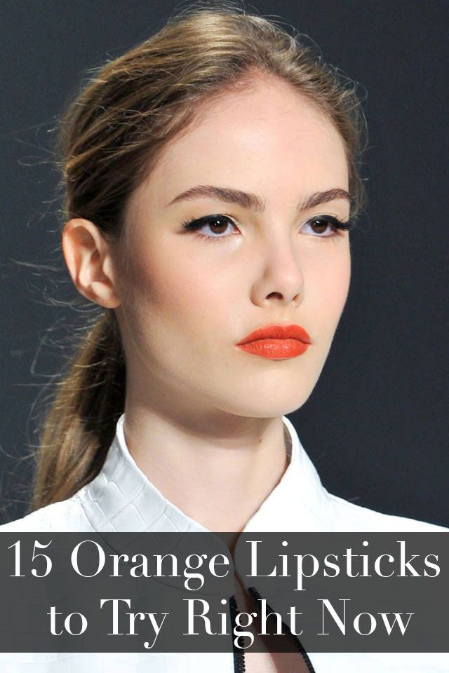 Find the best orangey, red lipstick for your skin tone.
