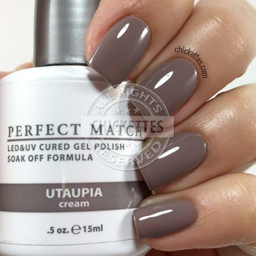Lechat Perfect Match Utaupia Swatch By Chickettes Com Soak Off Gel Polish Swatches Pinterest