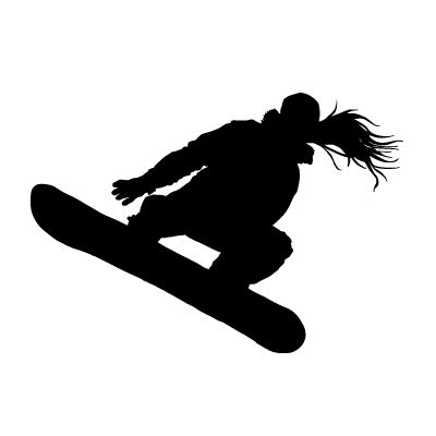 girl snowboarding silhouette - Google Search