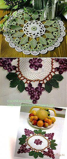 Tercera parte ... Servilletas con elementos de colores ... esquemas ... elegantes y hermosas ....