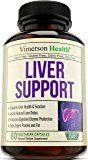 Liver Support Supplement to Cleanse & Detox - Natural Non-Gmo Herbal Blend with Milk Thistle + Artichoke Extract + Turmeric + Ginger + Beet Root + Alfalfa + Zinc + Choline and More. Made in USA