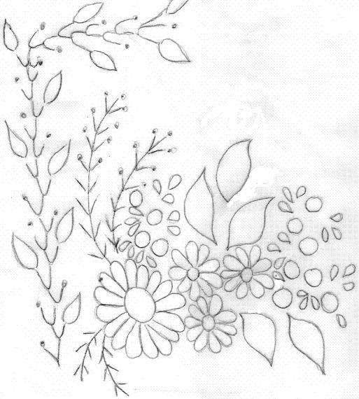 Patrones de flores para bordar a mano - Imagui | Bordados ...