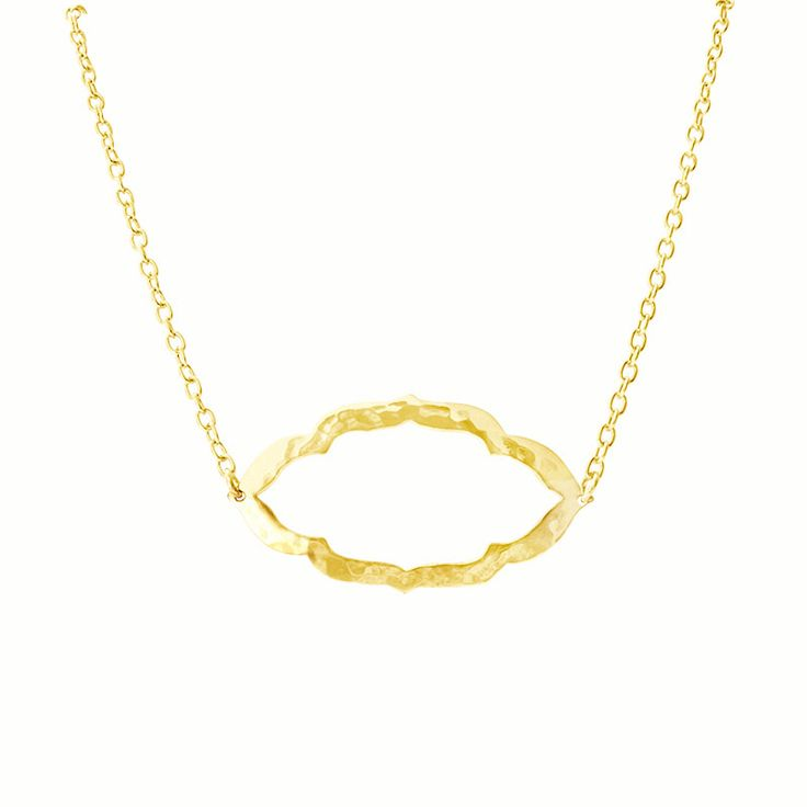 Simple and Bohemian Chic. The Nomad Necklace in 22KT Yellow Gold. Available at www.murkani.com.au