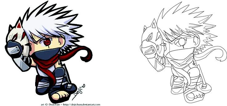 Kakashi And Obito Fan Art kid kakashi form...
