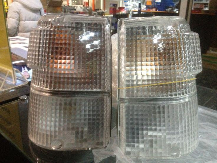 Рассказ владельца Mitsubishi Pajero (1st generation) — аксессуары. Белые поворотники+модные лампочки в габариты. номера для заказа: HQ804200 HQ804300