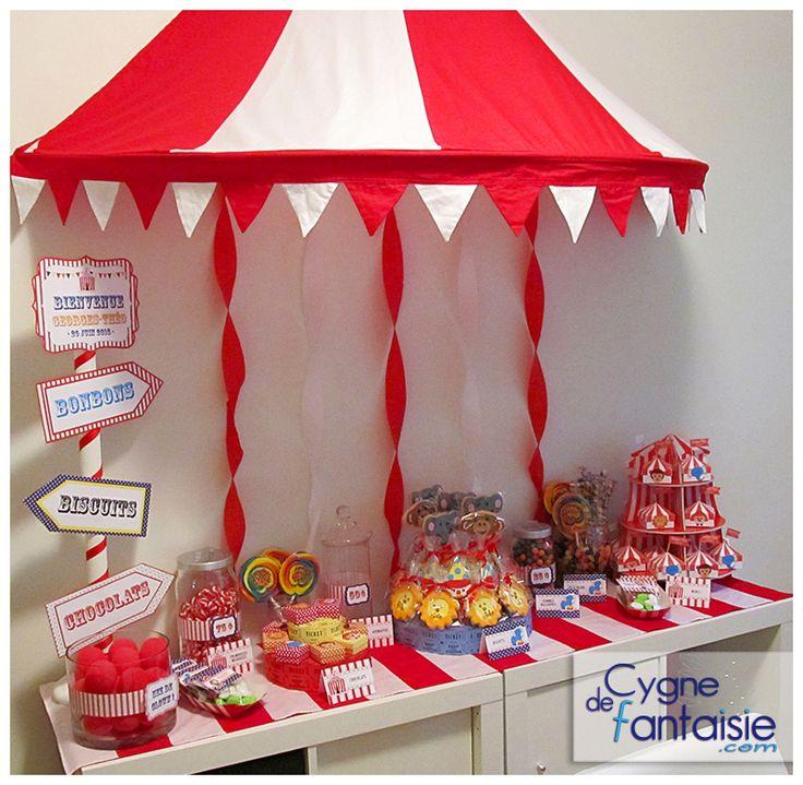Sweet table cirque - via cygnedefantaisie.com Fêtes thématiques et animations créatives