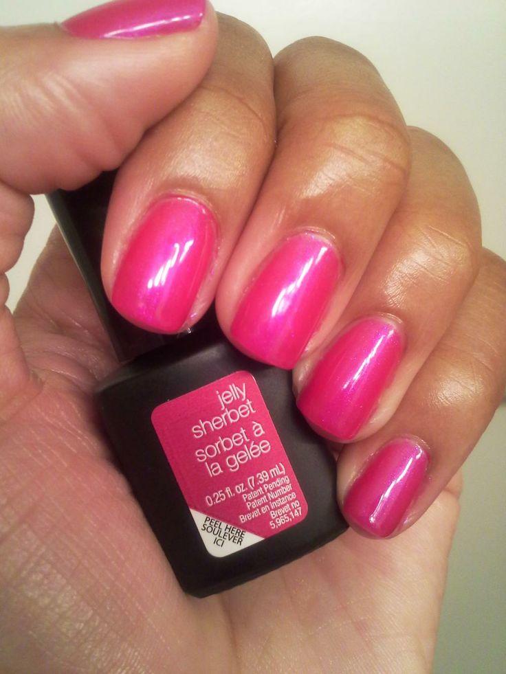 sensationail jelly sherbert nails pinterest