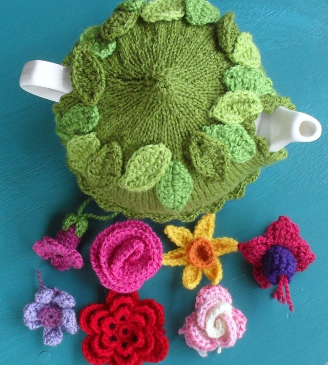 Spring Explosion Tea Cozy! | Crochet with Raymond - knit cozy and crochet flowers