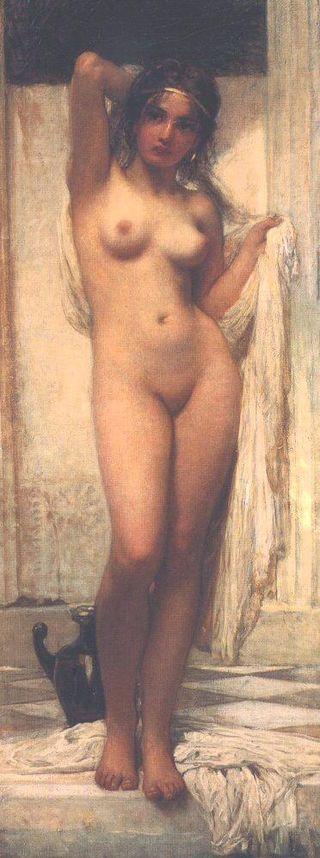 Károly Lotz (1833-1904) Bathing Woman - Lotz Károly (festő) – Wikipédia  (Fürdő nő, MNG)