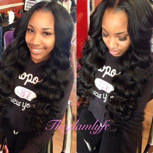 ... Sew In on Pinterest | Middle part weave, Middle parts and Weave bob