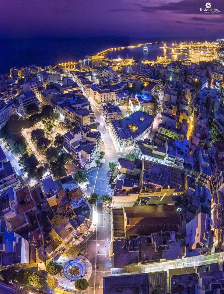 Heraklion city from above. By G.Trivizadakis.