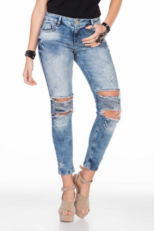 bc93042888962 Cipo & Baxx Damen Skinny-Jeans im Destroyed-Look   Fashion_Sept_01 ...