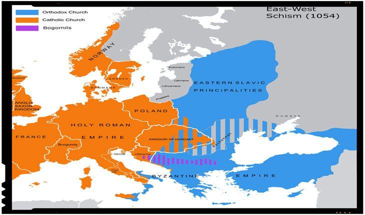 Oficial, principalele cauze ale separarii canonice si intreruperii comuniunii liturgice dintre cele doua mari ramuri ale crestinatatii, ceavestica (catolica) si cea estica (ortodoxa), au fostdisputele asupra autoritatii papale si inserarea clauzei Filioquein Crezul de la Niceea, desi au existat si cauze minore, cum ar fi dispute legate de jurisdictia asupra anumitor regiuni, sau de alte…