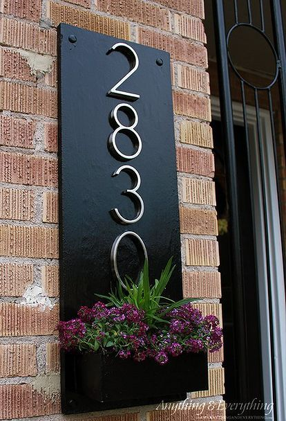 46 best curb appeal images on pinterest for the home for Front door number plaques
