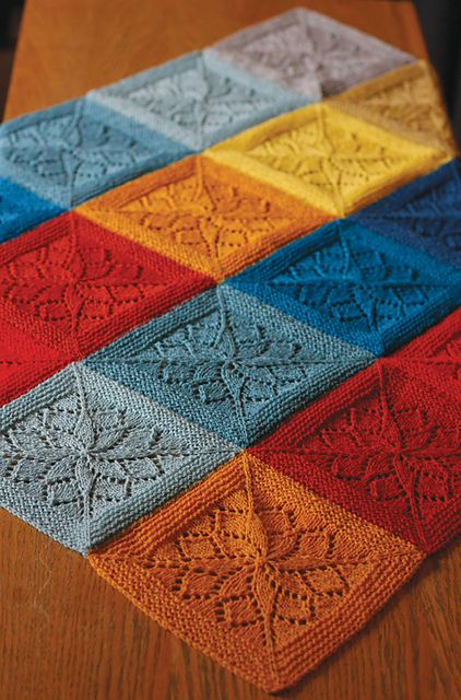 Ravelry: Vivid pattern by tincanknits. It's beautiful, although I don't think I can make my squares that perfectly shaped.