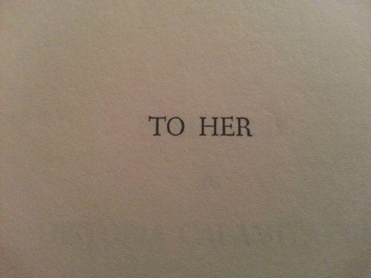 Henry Miller's Tropic of Capricorn dedication