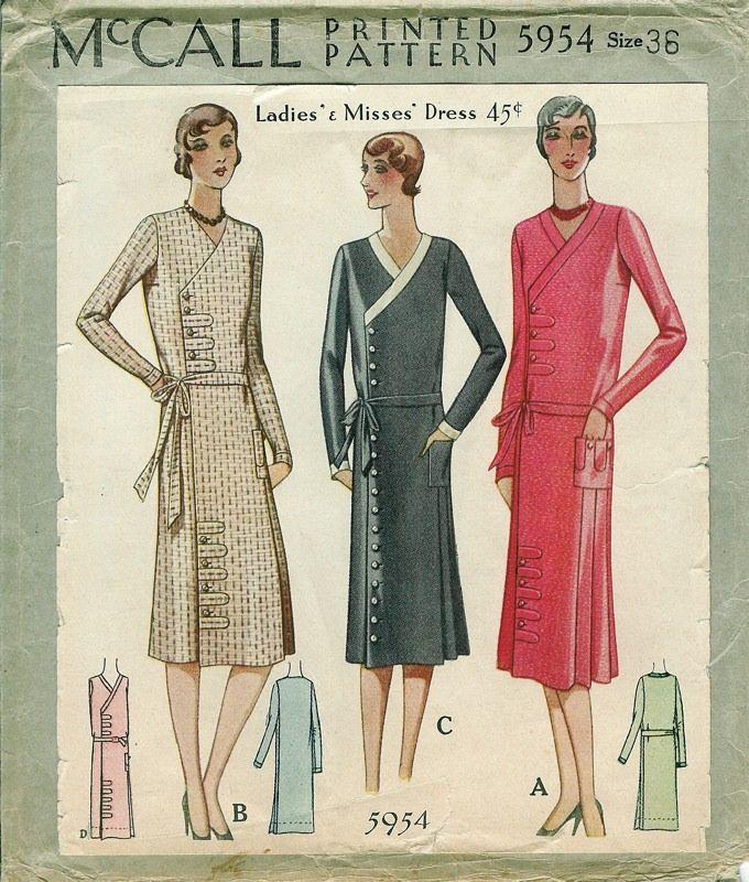patterns women 39 s dresses daytime 1929 mode annee folle pinterest ann e 20 gravure. Black Bedroom Furniture Sets. Home Design Ideas