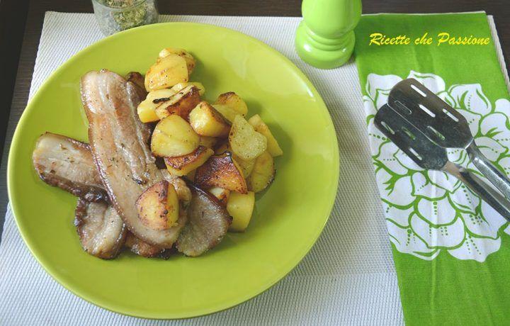 Pancetta con patate arrosto