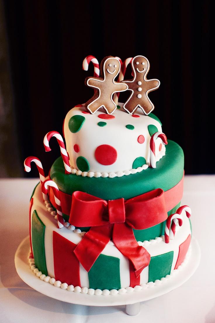 Wedding cake christimas theme  Hochzeitstorte weihnachtlich Weihnachten