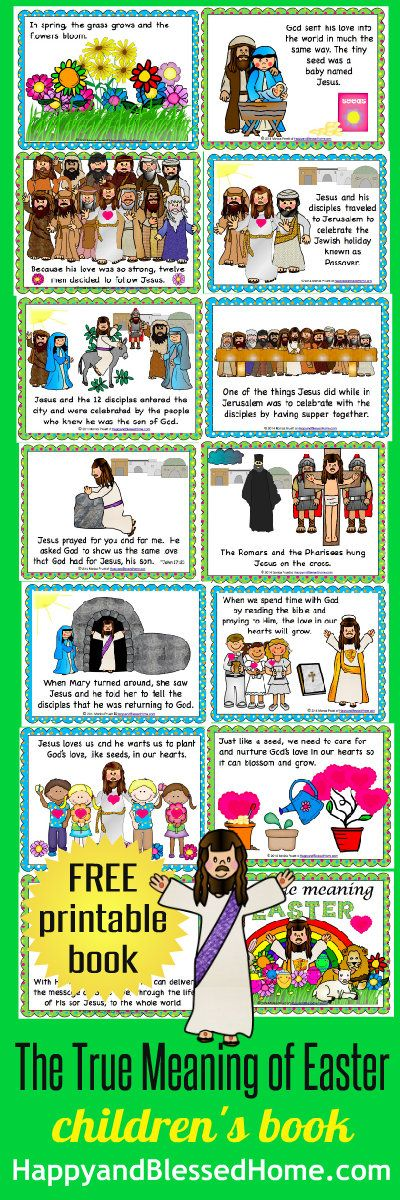 """FREE """"The True Meaning of Easter"""" 38 page printable children's book from HappyandBlessedHome.com"""