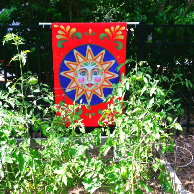 garden banners. Garden Flag In The Garden. Banners D