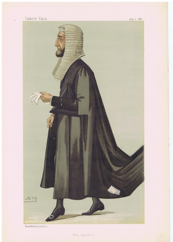 Date: 02-Jul-1887 The Vanity Fair Caricature of The Rt. Hon. Arthur Wellesley P.C. M.P. Peel With the caption of : The Speaker By the artist: SPY Visit www.theakston-thomas.co.uk for many more Vanity Fair Prints, we have one of the largest collections in the world.