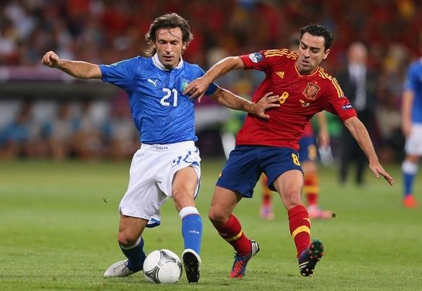 Pirlo vs Xavi, al final el duelo lo ganó el español - Ingrid Irribarren PIRLO!!!
