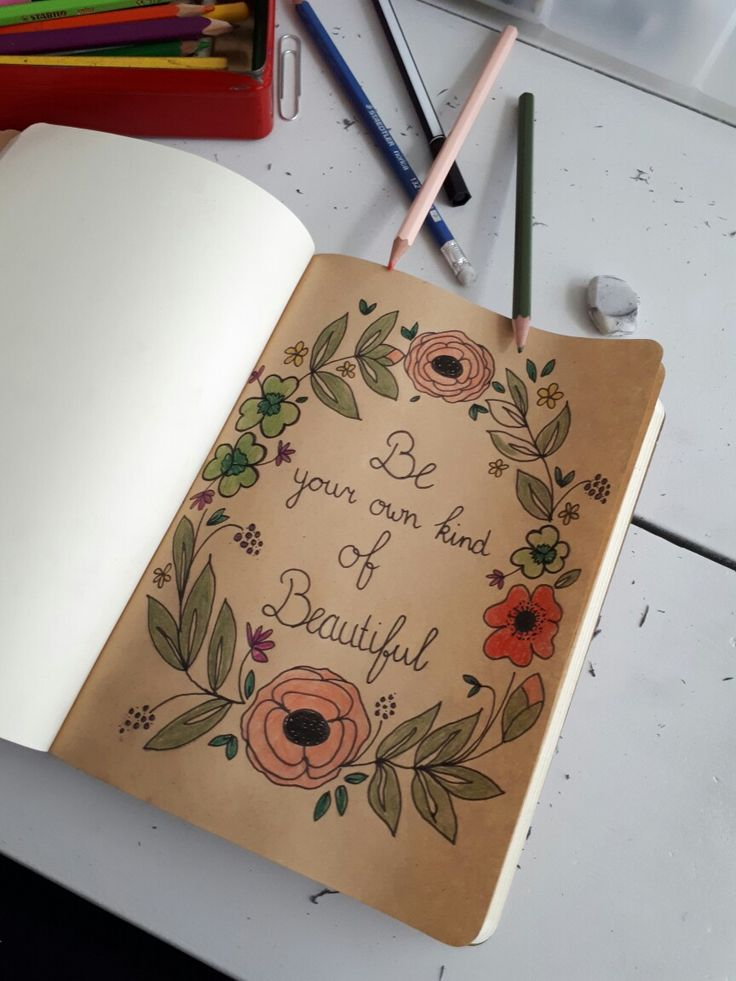 Be your own kind of beautiful. Handlettering