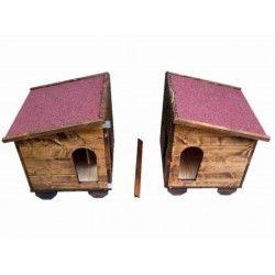 Cuccia doppia da esterno in legno