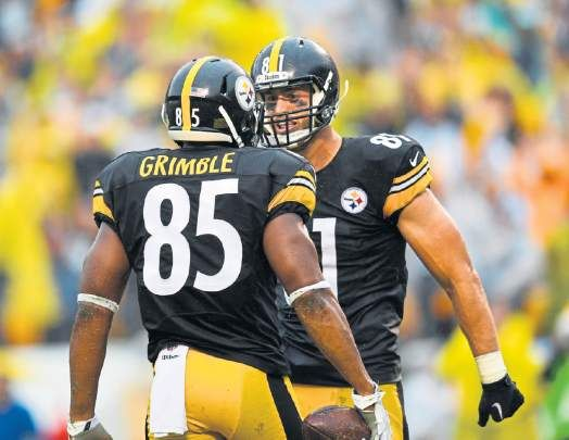 Steelers tight ends Jesse James, Xavier Grimble ready to take reins