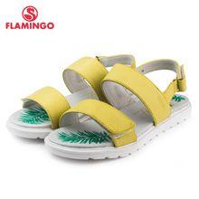 Элегантные сандалии для девочки ФЛАМИНГО известный бренд 2016 Высокое качество