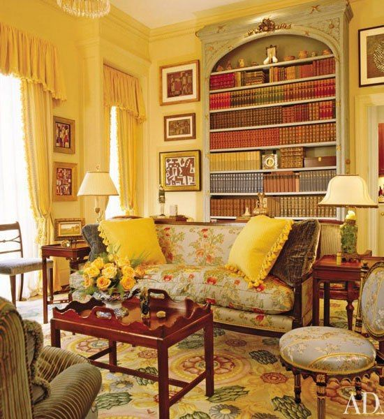 74 best images about interiors by peter marino on for Yellow painted rooms