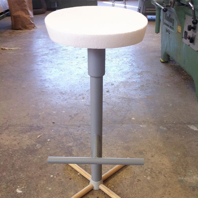 While cleaning out the office I found this old prototype of Nudo, the barstool we designed and developed for @mitabdesign a few years ago. Now it's off to the prototype-cemetery. #nudo #mitab #surface #material #danielenoksson #danielenokssonstudio