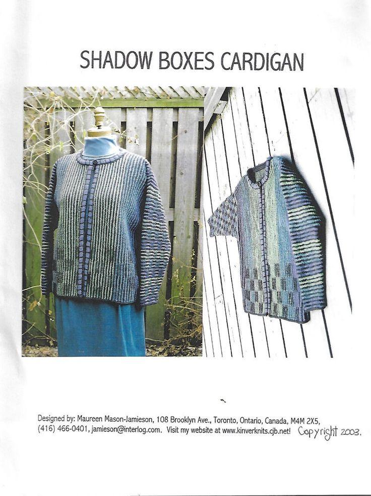 Shadow Boxes Cardigan knitting pattern Maureen Mason-Jamieson  #MaureenMasonJamieson