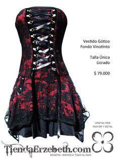 vestidos goticos bogota blonda disfraces halloween vinotinto prendas goticas rockeras metaleras femeninas ropa tienda online medellin cali pasto yopal