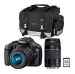 Canon T3 12.2MP Digital SLR Camera with 18-55mm IS Lens, 75-300mm Lens, DSLR Bag,Memory Card Price:$449.00