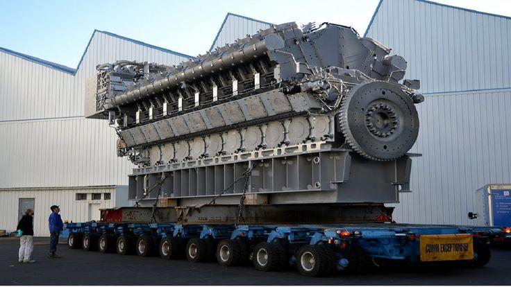 Increible Fabricacion Motor DIESEL Mas Grande del Mundo, Instalacion Mec...
