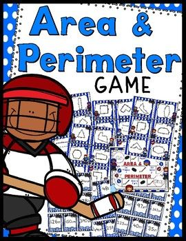 A fun game to practice calculating area and perimeter of polygons - hockey themed!15 Area Task Cards, 15 Perimeter Task Cards, 30 Answer Cards, Instruction/Title Cards, & Game BoardA great game to add to your math center this winter.Enjoy!CSL...a teacher's helper