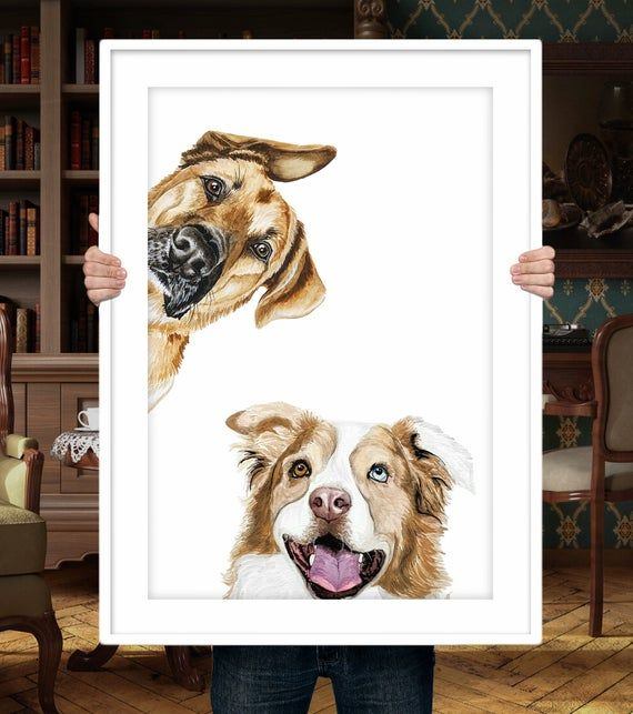 Custom Dog Portrait Pet Painting
