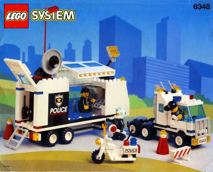 lego police mobile command center instructions
