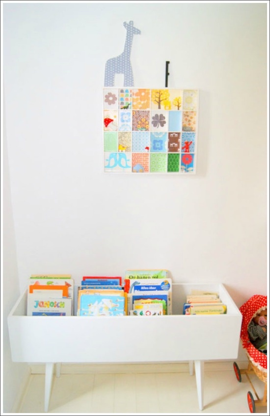 Love this book storage idea...