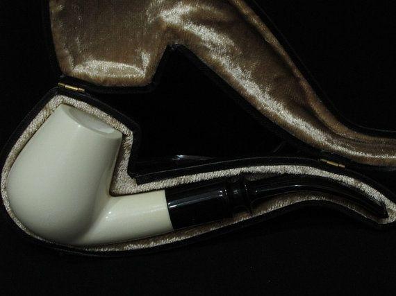 3/4 Bent Smooth Billiard Meerschaum Pipe by MeercoMeerschaum