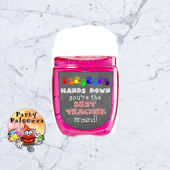 Printable Teacher Appreciation Hand Sanitizer Label Teacher