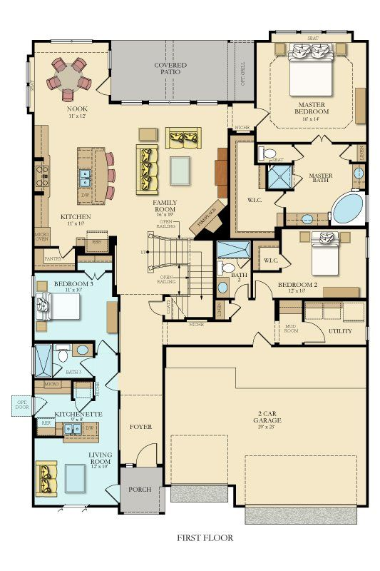 11 best multi generational floor plans images on pinterest for Multi generational home plans