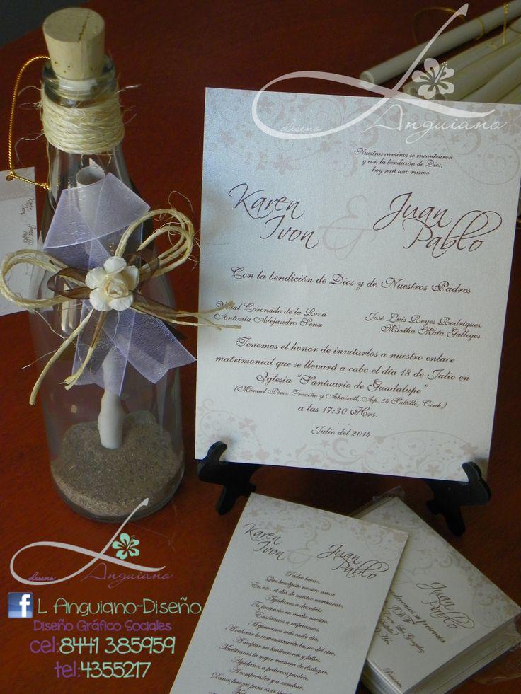 de boda bellas y hermosas en botella by linda anguiano