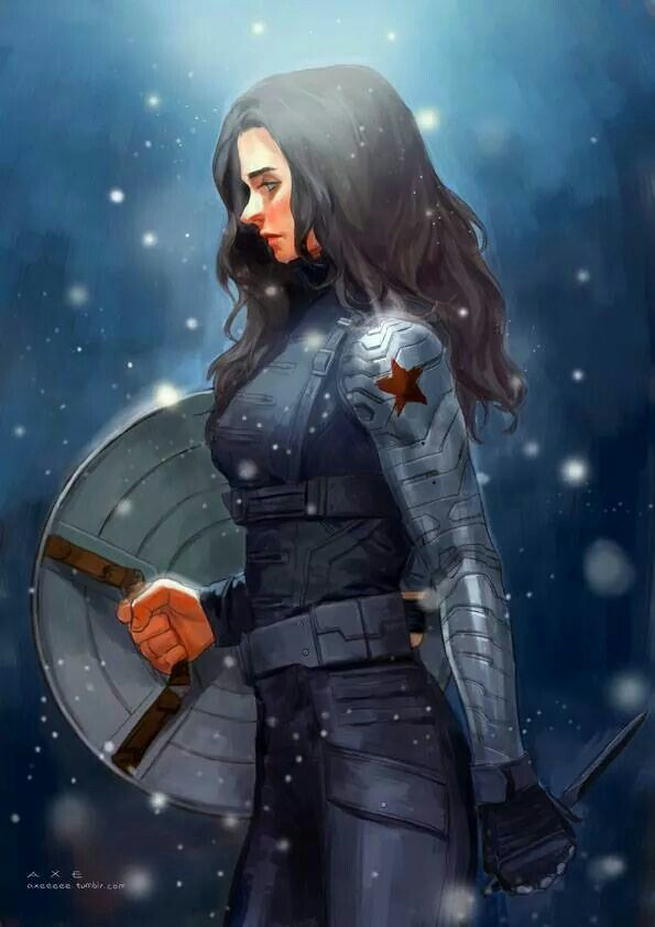 Gender swapped Bucky (Captain America Winter Soldier)