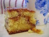 SOUR CREAM COFFEE CAKE: Sour cream in this cake makes it even more moist  #CoffeeCake