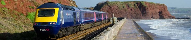Picture of a train passing Dawlish sea wall