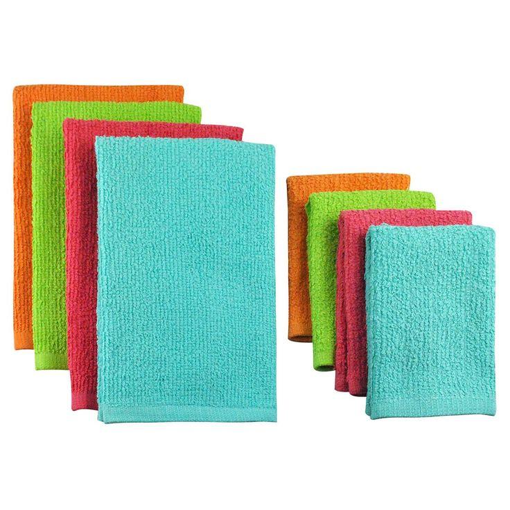 8 Piece Terry Bar Mop Dish Towel Amp Dish Cloth Set Cloths