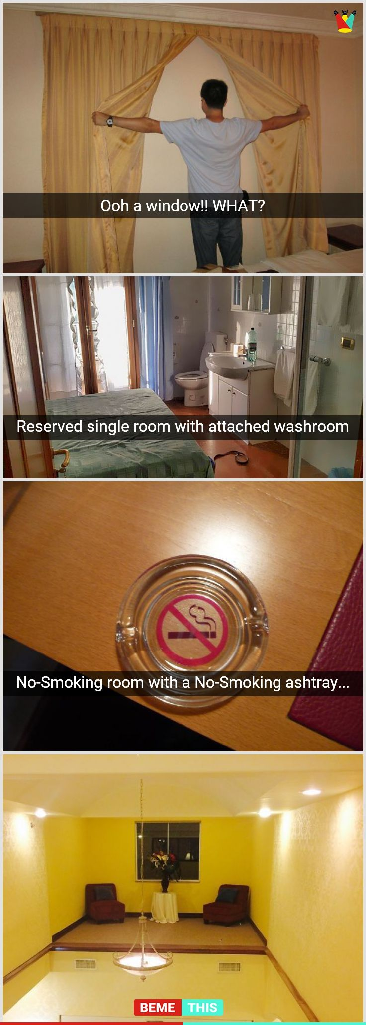 10+ Hotel Designs That Fail Hilariously #funnypictures #designfails #hotelnightmare #bemethis